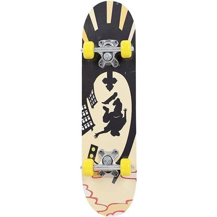 Anyutai Planche de Skateboard complète 24 Pouces en Bois d'érable Longboards Planche à roulettes pour Adultes Débutants Filles Garço
