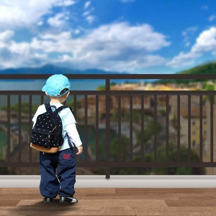 Filet De Sécurité Pour Bébé Avec,Filet De Sécurité Escalier Filet De Protection,Filet De Sécurité Pour Balcon Et Escalier,File,56