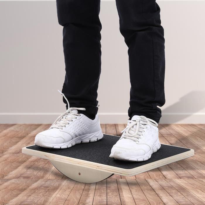 TAPIS DE SOL Balance Board En bois Fitness Multifonctionnel Sports d'intérieur Entraîneur d'équilibre-ALI