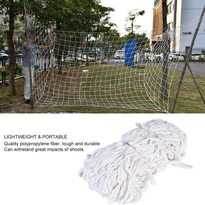 Qiilu poteau de but de football Équipement net durable de poteau de football de filet de but de football 8 x 4ft