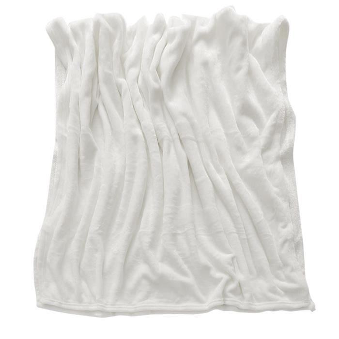 Couverture Couvre-Lit Jeté de Canapé Couverture Lit Canapé Jeter blanc
