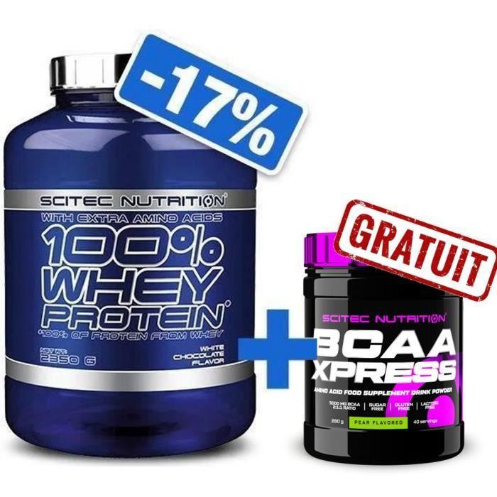 100% Whey Proteine 2350g FRAISE + BCAA 8.1.1 Complex 300g Scitec Nutrition