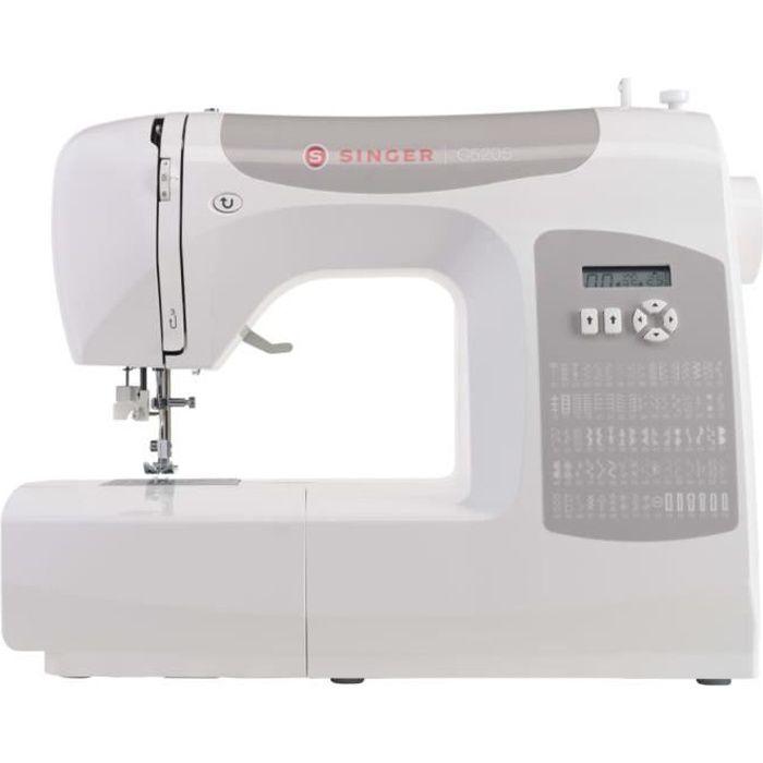 Singer Machine à coudre C5205-CR 75 W Blanc et gris