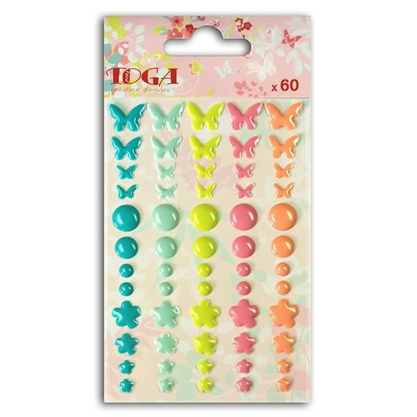 TOGA 60 Embellissements Epoxy Jardin Secret