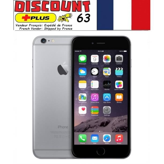 iphone 6 128gb gris d bloqu achat smartphone pas cher avis et meilleur prix cdiscount. Black Bedroom Furniture Sets. Home Design Ideas