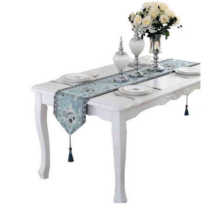 CHEMIN DE TABLE Chemin de Table Nappe Motif Floral Décoratif Moder