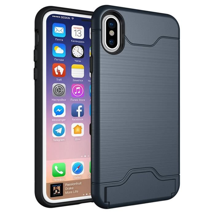 coque iphone x bleu marine