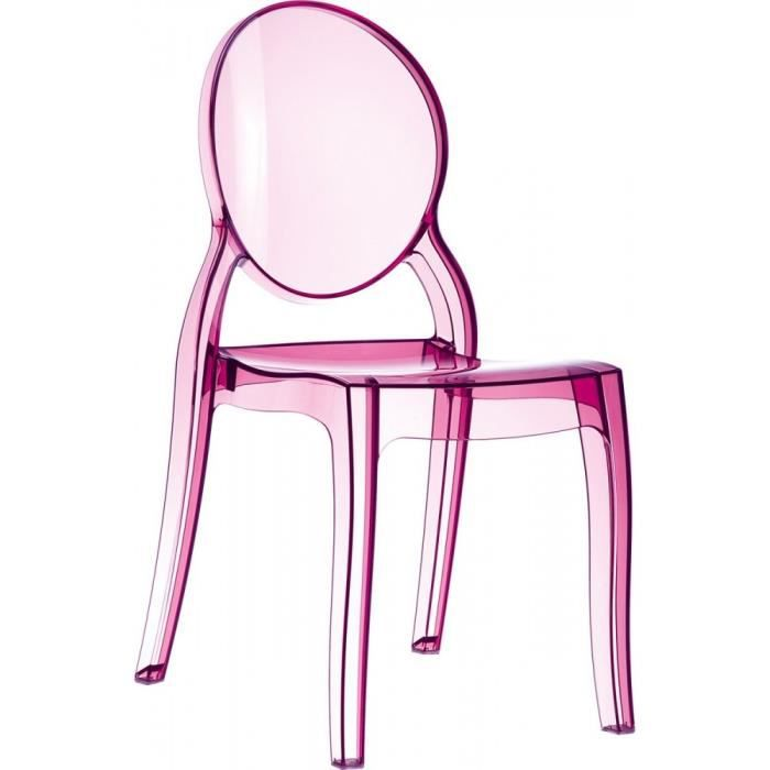 Lot 4 chaises elizabeth m daillon transparentes rose transparent achat ve - Chaise transparente discount ...