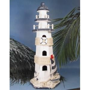 D coration marine grand phare en bois mod le b achat for Decoration marine bois