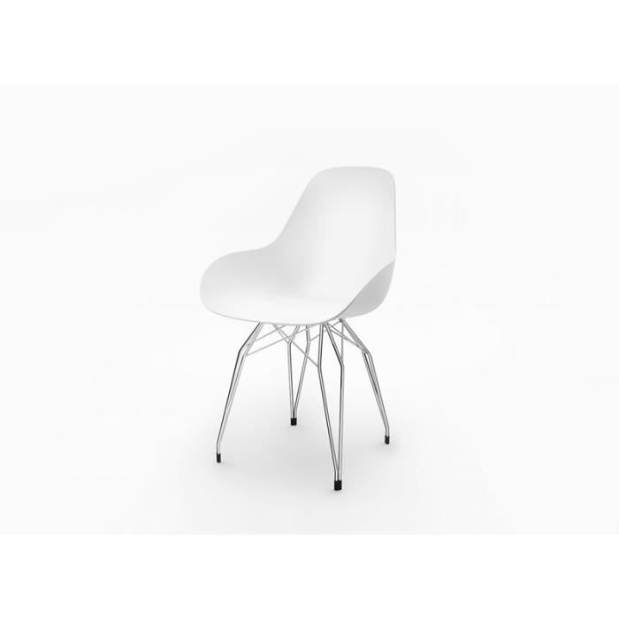 chaise chaise scandinave pied en metal diamond d blanc ch - Chaise Scandinave Pied Metal
