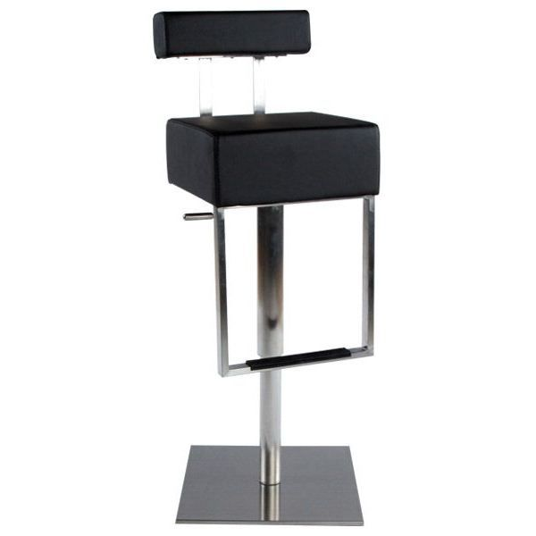 tabouret de bar design manhattan noir achat vente. Black Bedroom Furniture Sets. Home Design Ideas