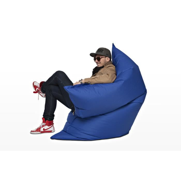 coussin g ant the big bag bleu achat vente pouf poire 100 polyester les soldes sur. Black Bedroom Furniture Sets. Home Design Ideas