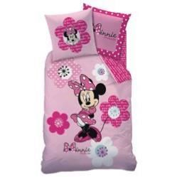 parure de lit minnie pink flowers disney achat vente parure de couette. Black Bedroom Furniture Sets. Home Design Ideas