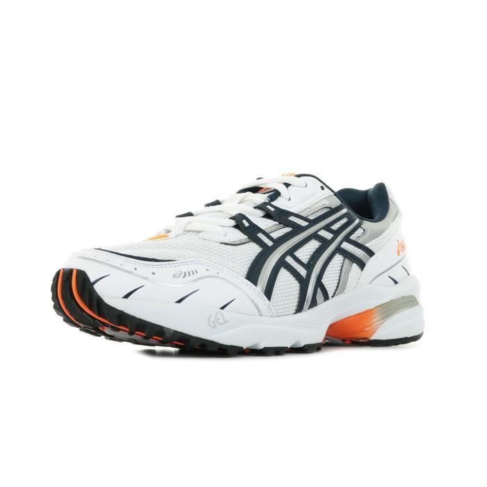 Chaussures de Running - Asics - Gel 1090 Blanc, bleu marine ...