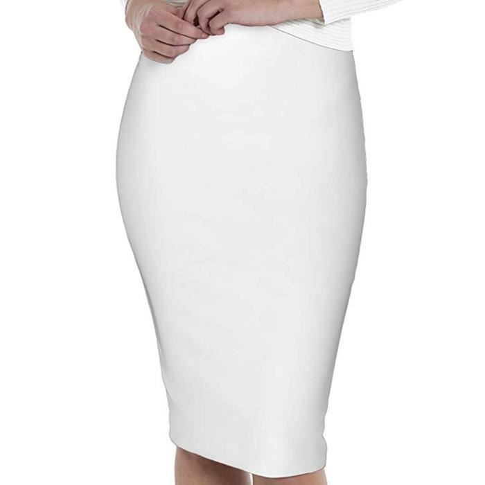 Femmes formelle dentelle stretch taille haute courte moulante Mini jupe crayon robe Z