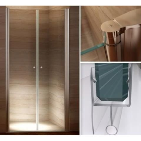 porte de douche 120 124 x 185cm en verre de s curit transparent achat vente porte de. Black Bedroom Furniture Sets. Home Design Ideas