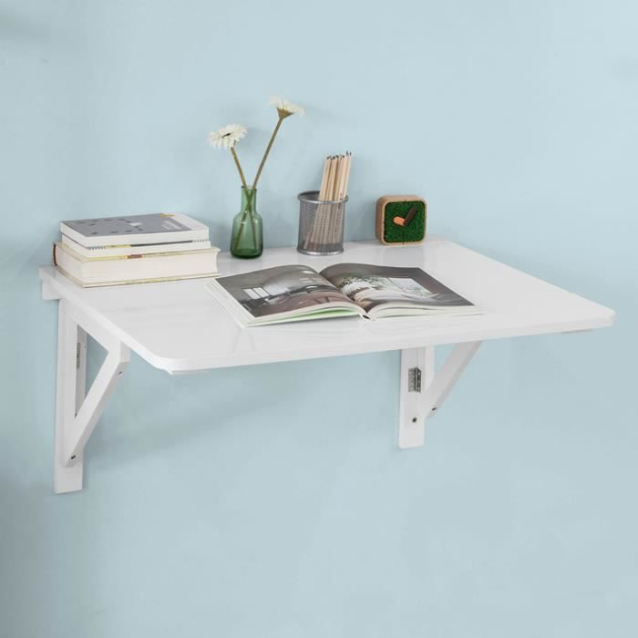 Sobuy Fwt05 W Bureau Table De Cuisine Table Murale Rabattable En