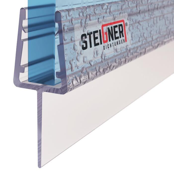 STEIGNER 70cm Joint de douche arrondi courb/é pour les vitres d/'une /épaisseur 5mm// 6 mm// 7 mm// 8 mm UK10 Joint de remplacement