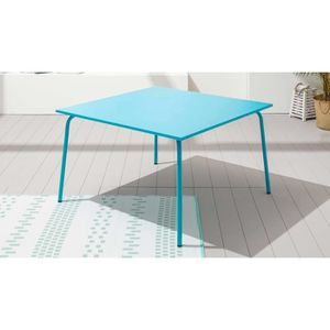 Table carre 8 personnes achat vente table carre 8 for Peinture table de jardin metal