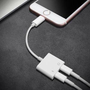 CÂBLE RÉSEAU  Adaptateur iPhone7/8/X Charger Ecouteur Jack Charg