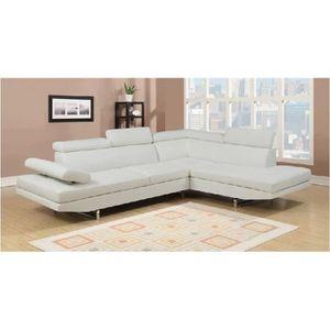 CANAPÉ - SOFA - DIVAN Canapé d'angle design blanc 6 places (ANGLE DROIT)