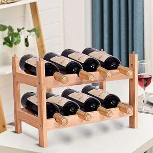 RANGE BOUTEILLE Étagère à Vin Casier à 8 Bouteilles en Bois de Pin