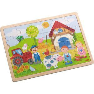 CASSE-TÊTE Haba Puzzle Ferme 301942 Antons en bois