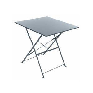 TABLE DE JARDIN  Table de jardin carrée Camargue 70 x 70 cm Ardoise