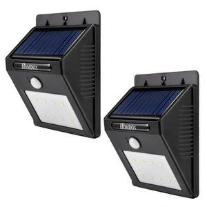 APPLIQUE EXTÉRIEURE Applique murale LED énergie solaire LED chemin esc