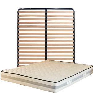 MATELAS Matelas 140x200 + Sommier Démonté + pieds + Protèg