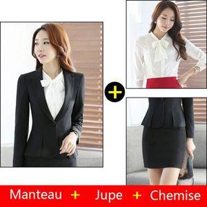 COSTUME - TAILLEUR (Veste + jupe + chemise)Costume Femme Coupe slim d