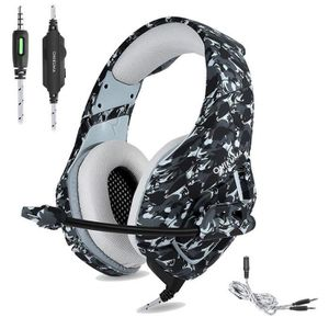 CASQUE AVEC MICROPHONE ONIKUMA Casque Gaming pour PS4 Xbox One, Camouflag