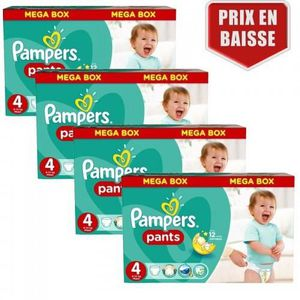 COUCHE 160 Couches Pampers Baby Dry Pants taille 4