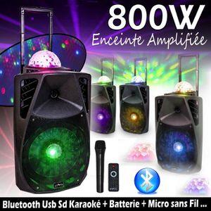 ENCEINTE ET RETOUR ENCEINTE SONO DJ KARAOKÉ PARTY-15 ASTRO /  800W +