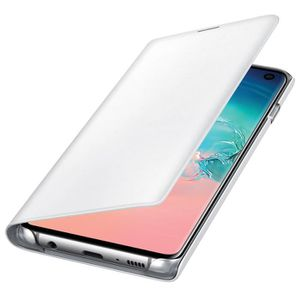 HOUSSE - ÉTUI Housse Galaxy S10 Étui Portefeuille LED Porte-cart