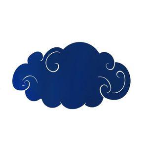 APPLIQUE  Appliques NUAGE VRILLE TOSEL Bleu Dimensions: 34 x