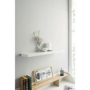 Vandom Etagère 80 blanc murale Vente Achat brillant cm shrBodxQCt