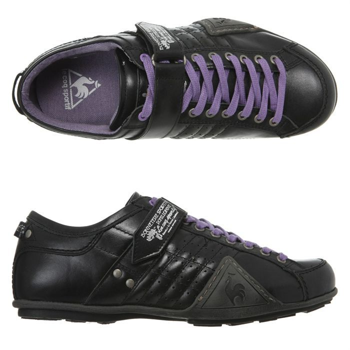 le coq sportif baskets sapporo luxe homme homme noir et mauve achat vente le coq sportif. Black Bedroom Furniture Sets. Home Design Ideas