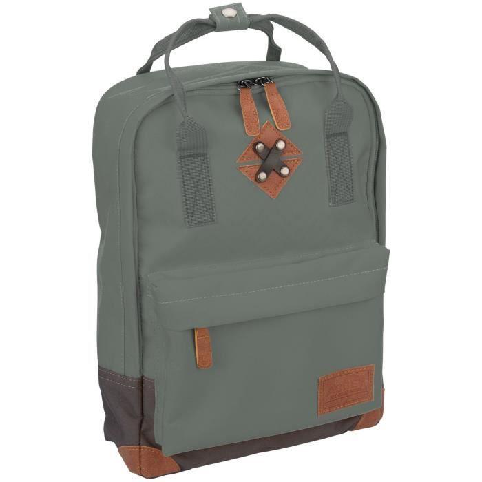 ABBEY Petit sac à dos en polyester 300T - Doublure 100% polyester - Dimensions 24 x 10 x 33 cm - Gris