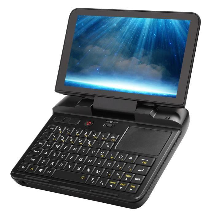Mini ordinateur portable GPD MicroPC 8G + 128G Mini Notebook 6 pouces avec résolution 1280 x 720 pour Intel (110-240V) (EU Plug)-CHE