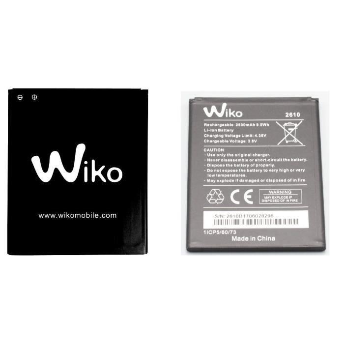 ORIGINAL Batterie Wiko pour Wiko Jerry 2 - Type 2610 - 2500mAh 9,5Wh