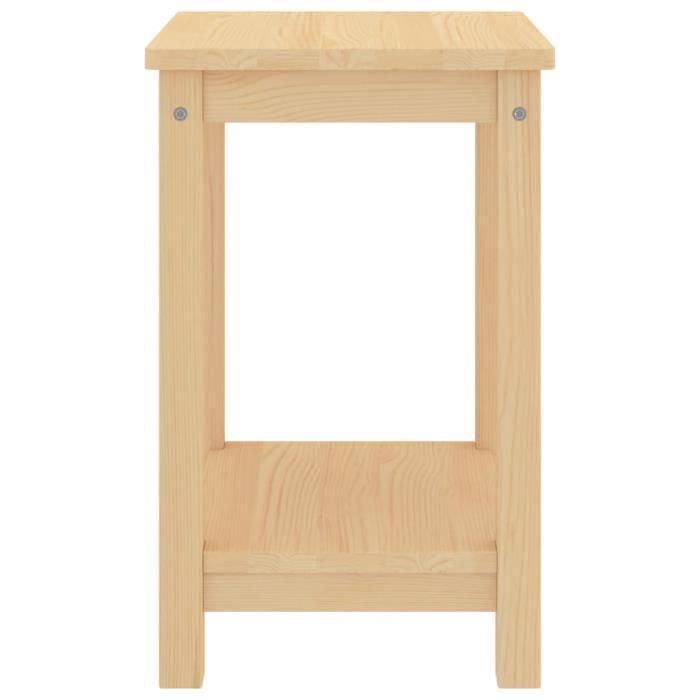 ❤Moderne Table de Chevet Mode - Table de nuit Bout de canapé Bois clair 35x30x47 cm Bois de pin massif ��10707