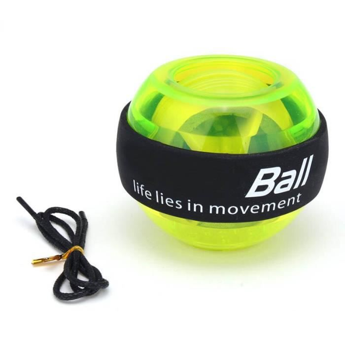 Accessoires Fitness - Musculation,Gyroscope Powerball LED Gyroscope puissance poignets balle bras exercice Force - Type green #B