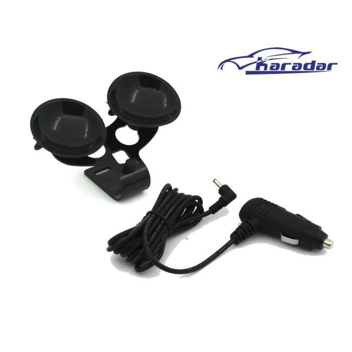 Détecteur Radar ventouse et chargeur voiture DC3.5 port pour voiture karadar détecteur anti radar Support universel pour voiture