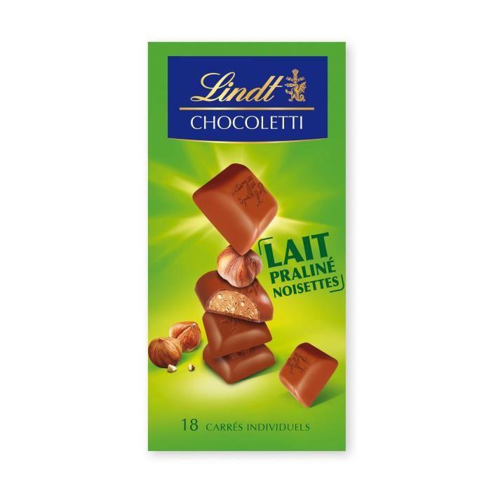 LINDT Chocolat praliné noisette lait - 100 g