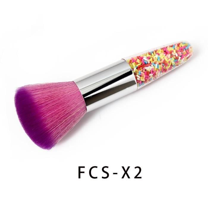 Nouvelle forme de coquille brosse à ongles propre poudre de poussière Portable maquillage brosse fond de teint correcteu BD15309