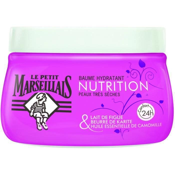 Le Petit Marseillais - Soins du Corps Baume Nourrissant - Peaux très Sèches - lait de figue huile essentiel de camomille 8929