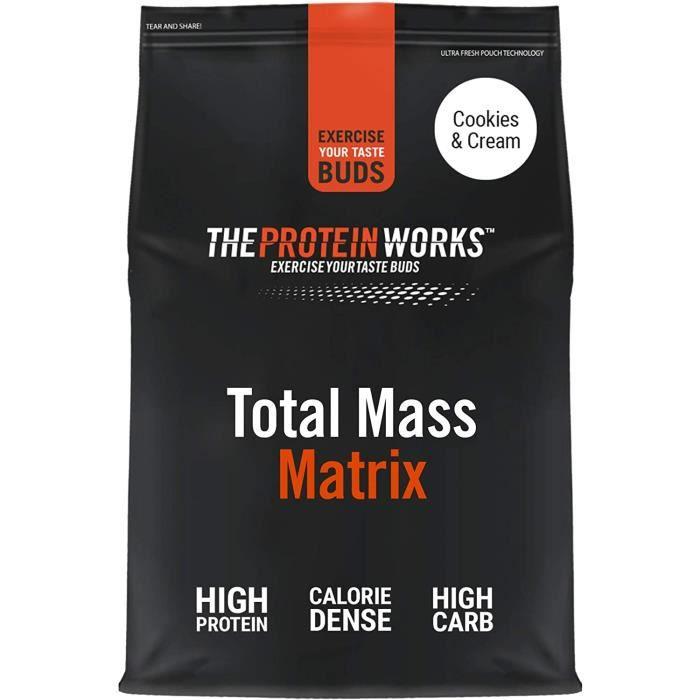Total Mass Matrix - Cookies Crème - Gain de Masse - Gain de Poids Riche en Calories - Protéine en Poudre - - 5kg 670