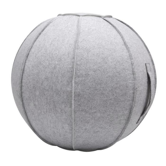 65cm Senti Assis Ball Chair Protection, durable Auto-Debout Ballon D'exercice Équilibre Pilates Yoga Boules Couverture avec blanc