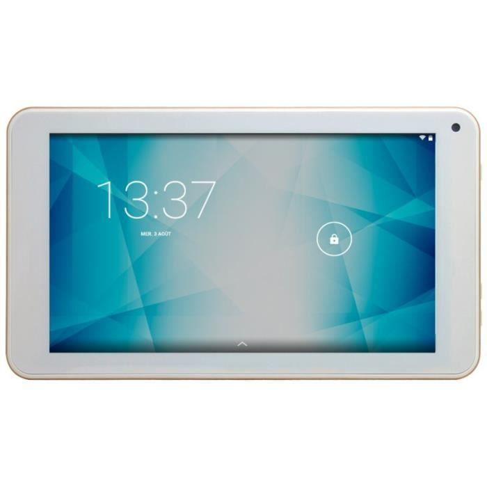 Konrow K Tab 701x Tablette Android 6 Marshmallow Ecran 7'' 8Go Wifi Or Jaune